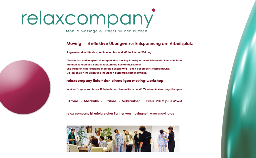 Relaxcompany  Moving workshop