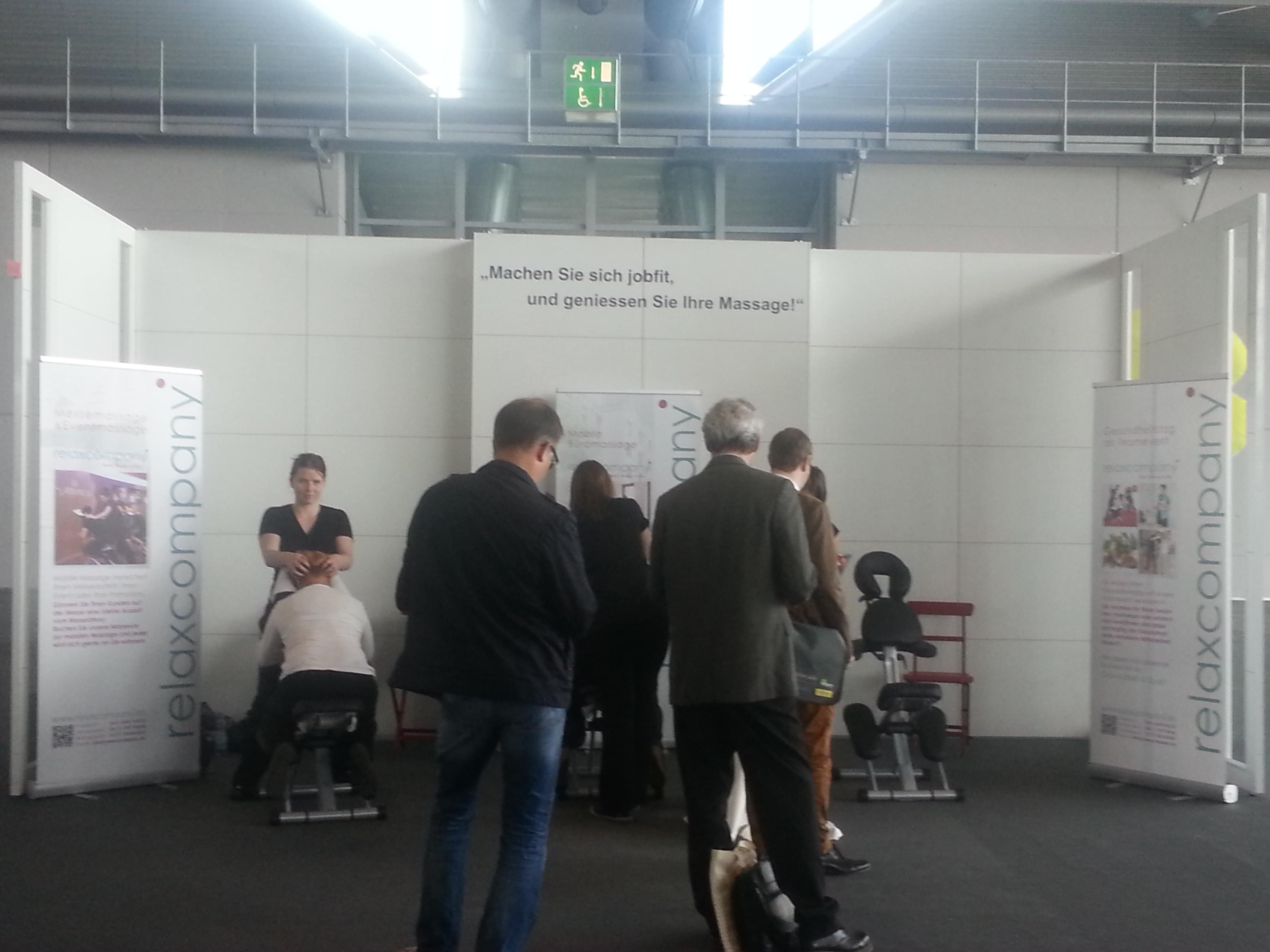 Massage auf der Messe – Arbeitsschutzmesse in Frankfurt