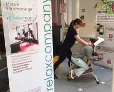 Mobile Massage – Gesundheitstag bei Thomas Cook in Oberursel