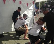 Event Massage beim Lauf für mehr Zeit