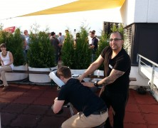 mobile Massage bei der after work Party