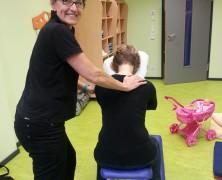 Massage am Arbeitsplatz – heute im Kindergarten in Ingelheim