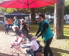 mobile Massage beim Sponsorlauf in Wiesbaden