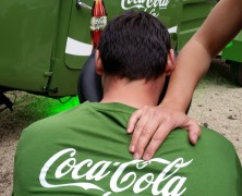 mobile Massage beim Coca-Cola camp