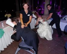 Massage auf der Hochzeit auf Burg Schwarzenstein im Rheingau