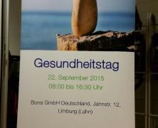 Gesundheitstag mit relaxcompany bei Bona in Limburg