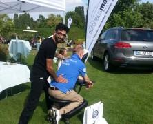 Mobile Massage beim Golfturnier